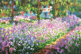The Artist's Garden At Giverny, c.1900 Plastic Sign by Claude Monet