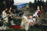 John William Waterhouse Saint Cecilia Plastic Sign Plastic Sign by John William Waterhouse