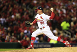 St. Louis, MO - Oct 27: 2013 World Series Game 4, Red Sox v Cardinals Photographic Print by Dilip Vishwanat