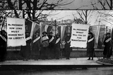 Women Suffragists Picketing in Front of White House Plastic Sign Plastic Sign