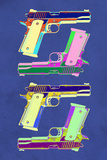 Guns Blue Pop-Art Poster Posters