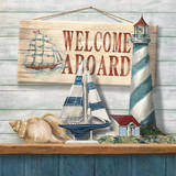 Welcome Aboard Posters by Conrad Knutsen