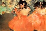 Edgar Degas Ballerine in Rosa Plastic Sign Plastikskilte af Edgar Degas