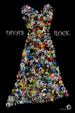 Divas Rock Buttons by Gdogs Cosmic Rock Plastic Sign Plastic Sign
