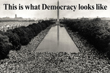 What Democracy Looks Like Plastic Sign Wall Sign