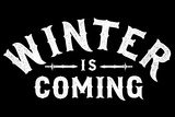 Winter is Coming Snorg Tees Plastic Sign Plastic Sign by  Snorg