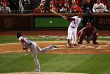 St. Louis, MO - Oct 27: 2013 World Series Game 4, Red Sox v Cardinals Photographic Print by  Rob Carr