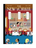 Fast Food - The New Yorker Cover, November 4, 2013 Regular Giclee Print by Ivan Brunetti