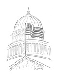Tic Tac Toe at the Capitol Building - Cartoon Regular Giclee Print by Mike Twohy