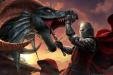 Dragonslayer by Tom Wood Poster Prints by Tom Wood