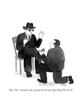 """Aw, Vito—marryin' you is gonna be the most legal thing I'll ever do."" - Cartoon Premium Giclee Print by Emily Flake"