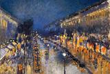Camille Pissarro The Boulevard Montmartre Plastic Sign Signe en plastique rigide par Camille Pissarro