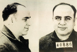 Al Capone Mug Shot Plastic Sign Plastic Sign