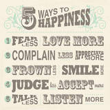 Five Ways to Happiness Posters