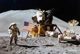 Astronaut Moon Landing Salute Plastic Sign Plastic Sign