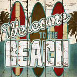 Welcome to the Beach Poster by Katrina Craven