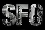 SFO San Francisco Images Plastic Sign Plastic Sign