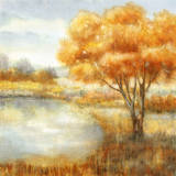Golden Landscapes Prints by  Nan