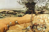 Pieter Bruegel The Grain Harvest Plastic Sign Plastic Sign by Pieter Bruegel the Elder