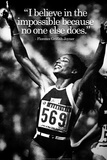 Florence Griffith-Joyner Impossible Quote iNspire Plastic Sign Plastikskilte