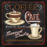 Coffee Café Poster by Conrad Knutsen
