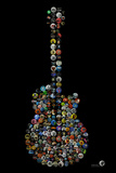 Rock Guitar Buttons by Gdogs Cosmic Rock Plastic Sign Wall Sign by  Gdog