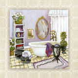 Lavender Scented Bath II Prints by Charlene Winter Olson