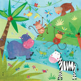 Jungle Friends I Posters af Kate and Elizabeth Pope