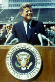 President John F Kennedy Speech Color Plastic Sign Plastic Sign