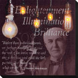 Enlightenment (Thomas Edison) Stretched Canvas Print