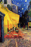 Van Gogh Cafe Terrace at Night Painting Plastic Sign Wall Sign by Vincent van Gogh