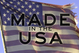 Made In The USA American Flag Motivational Plastic Sign - Plastik Tabelalar