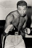 Sugar Ray Robinson Boxing Pose Sports Plastic Sign Plastikskilte