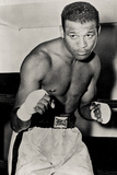 Sugar Ray Robinson Boxing Pose Sports Plastic Sign Cartel de plástico