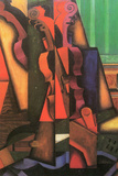 Juan Gris Violin and Guitar Plastic Sign Plastic Sign by Juan Gris