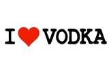 I Heart Vodka College Humor Plastic Sign Plastic Sign