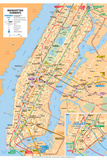Michelin Official Manhattan Subways Map Poster Prints