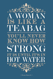 Strong Woman Eleanor Roosevelt Quote Poster Posters