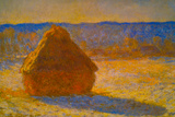 Claude Monet Haystacks Snow Morning Prints