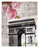 Paris in Bloom II - Mini Poster par Natalie Alexander