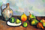 Paul Cezanne Still Life Jar and Fruit Plastic Sign Plastic Sign by Paul Cézanne