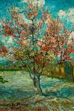 Vincent Van Gogh Pink Peach Trees Souvenir de Mauve Plastic Sign Signes en plastique rigide par Vincent van Gogh