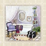 Lavender Scented Bath I Print by Charlene Olson