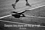 Billie Jean King Champions Quote Plastic Sign Plastikschild