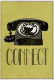 Connect Retro Telephone Player Plastic Sign Wall Sign