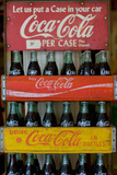 Vintage Coca Cola Bottle Cases Coke Plastic Sign Plastic Sign