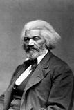 Frederick Douglass Seated Portrait Plastic Sign Plastskilt