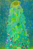 Gustav Klimt The Sunflower Plastic Sign Plastic Sign by Gustav Klimt