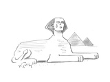 (The statue of the Sphinx cries a tear.) - Cartoon Premium Giclee Print by Mike Twohy