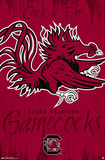 University of South Carolina Gamecocks Logo Poster